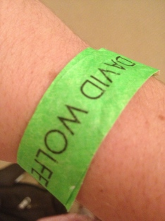 ...And the wristband, from an amazing lecture.