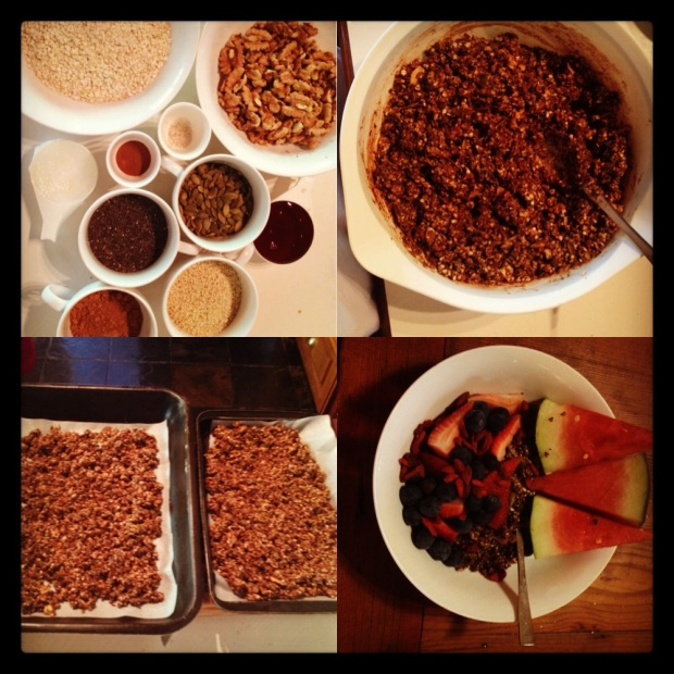 Granola Collage - from ingredients to breakfast bowl in no time!