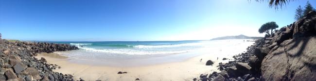 The beautiful beach at Byron Bay