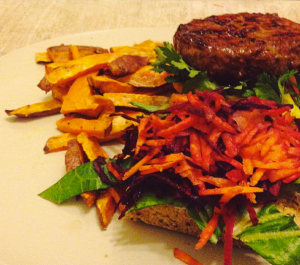 Paleo bread as a burger bun
