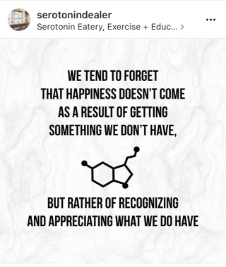 This little goodie from Serotonin... Gratitude is golden!