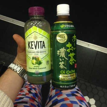 I also found a cool fermented coconut water drink and 100% iced green tea in JFK.