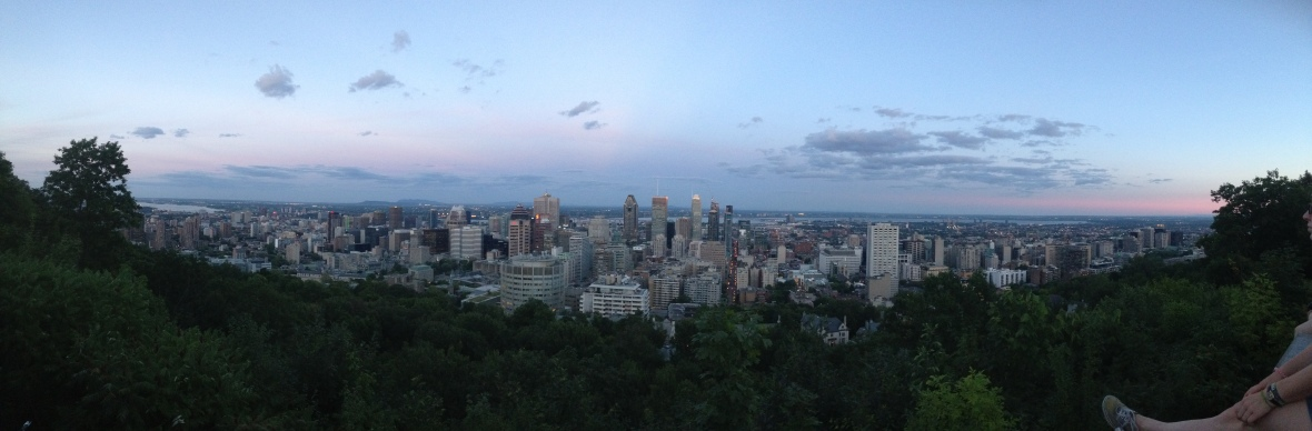 The view from the top of Mont-Royal, Montreal.